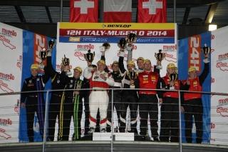 The AF Corse Ferrari 458 wins the 12H Italia-Mugello / Image: Copyright Ferrari