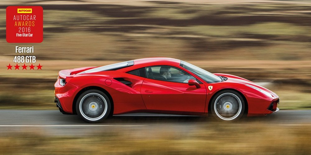 ferrari 488 gtb 5 stars from autocar ferrari online magazine. Black Bedroom Furniture Sets. Home Design Ideas