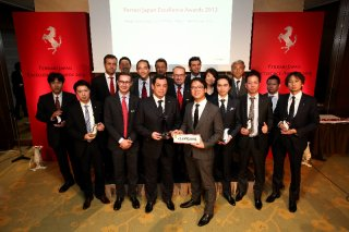 Ferrari Japan Excellence Awards 2013 - Cornes Nagoya wins the Best Dealer of the Year 2013 / Image: Copyright Ferrari