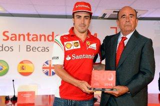 FIA Formula 1 World Championship 2014 - Round 5 - Grand Prix Spain - Fernando Alonso, Emilio Botín / Image: Copyright Ferrari