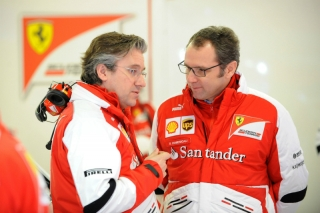 FIA Formula 1 Tests Barcelona 28.02. - 03.03.2013 - Pat Fry, Stefano Domenicali / Image: Copyright Ferrari