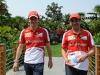 FIA Formula 1 World Championship 2013 - Round 3 - Grand Prix China - Pedro de la Rosa and Marc Gene / Image: Copyright Ferrari