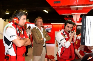 FIA Formula 1 World Championship 2014 - Round 5 - Grand Prix Spain - Marco Mattiacci, Luca di Montezemolo, Andrea Stella / Image: Copyright Ferrari