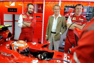 FIA Formula 1 World Championship 2014 - Round 5 - Grand Prix Spain - Luca di Montezemolo, Kimi Raikkonen - Ferrari F14 T / Image: Copyright Ferrari