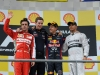 FIA Formula 1 World Championship 2013 - Round 11 - Grand Prix of Belgium - Fernando Alonso, Sebastian Vettel and Lewis Hamilton / Image: Copyright Ferrari