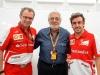 FIA Formula One World Championship 2013 - Round 15 - Grand Prix of Japan - Stefano Domenicali, Plácido Domingo and Fernando Alonso / Image: Copyright Ferrari