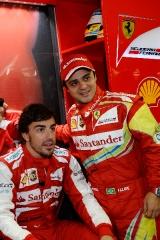 FIA Formula One World Championship 2013 - Round 19 - Grand Prix of Brazil - Fernando Alonso and Felipe Massa / Image: Copyright Ferrari