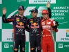 FIA Formula One World Championship 2013 - Round 19 - Grand Prix of Brazil -  Mark Webber, Sebastian Vettel and Fernando Alonso / Image: Copyright Ferrari