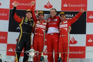 FIA Formula 1 World Championship 2013 - Round 5 - Grand Prix Spain - Fernando Alons, Felipe Massa and Stefano Domenicali / Image: Copyright Ferrari
