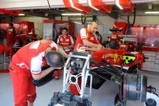 FIA Formula 1 World Championship 2013 - Round 6 - Grand Prix Monaco - Scuderia Ferrari garage / Image: Copyright Ferrari