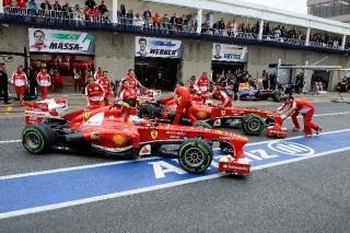 FIA Formula 1 World Championship 2013 - Round 7 - Grand Prix Canada - Fernando Alonso and Felipe Massa - Ferrari F138 - S/N 299 and 298 / Image: Copyright Ferrari
