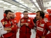 FIA Formula 1 Tests Bahrain 19.02. - 22.02.2014 - Andrea Stella, Simone Resta, Pat Fry, Fernando Alonso - Ferrari F14 T / Image: Copyright Ferrari