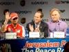 Jerusalem Peace Road Show 2013 - Giancarlo Fisichella, Nir Barkat and Eugene Kaspersky / Image: Copyright Ferrari