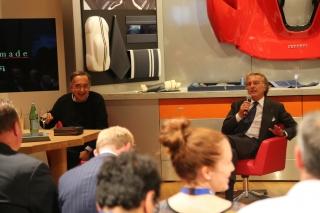 Paris Motor Show 2014 - Sergio Marchionne and Luca di Montezemolo/ Image: Copyright Ferrari