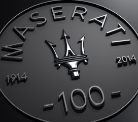 Rolex Monterey Motorsports Reunion 2014 - Maserati Centennial Logo - Photo Courtesy of Maserati North America