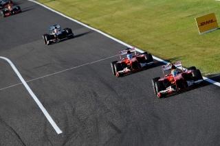 FIA Formula One World Championship 2013 - Round 15 - Grand Prix of Japan - Felipe Massa - Ferrari F138 - S/N 298 - Fernando Alonso - Ferrari F138 - S/N 299 / Image: Copyright Ferrari